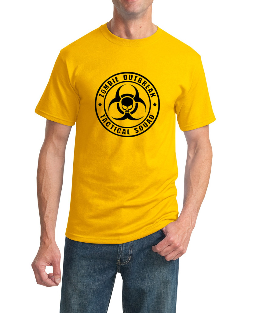 zombie yello t-shirt