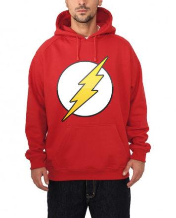 flash hooded sweatshirt red