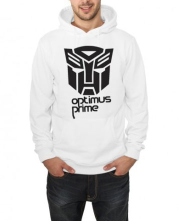 Transformers hooded sweatshirt white