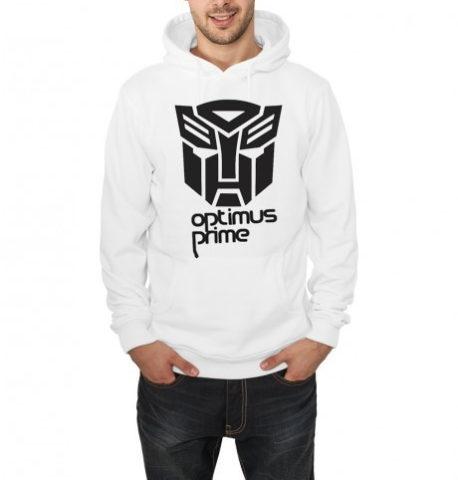 Transformers hooded sweatshirt white