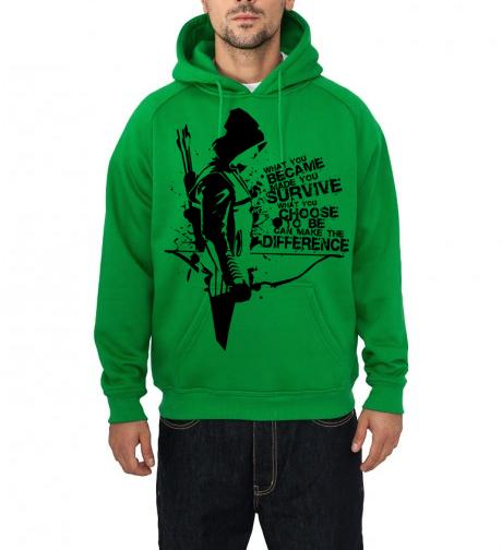 Home   Hoodies  amp  Sweatshirts   Arrow Green HoodieGreen Arrow Hoodie