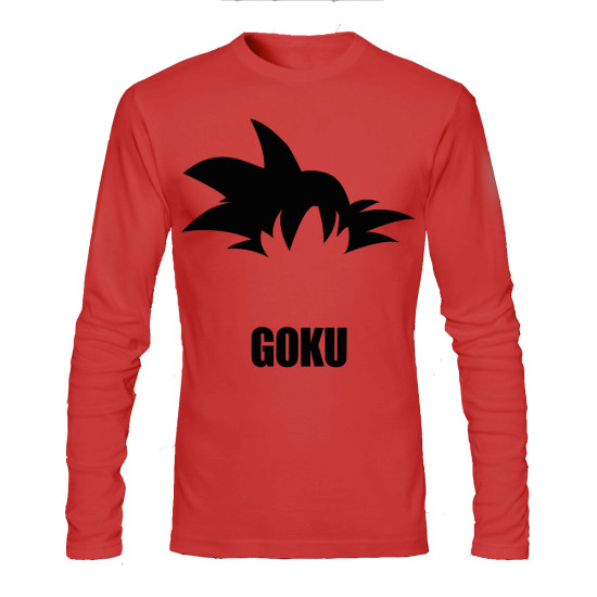 goku red full sleeve tee
