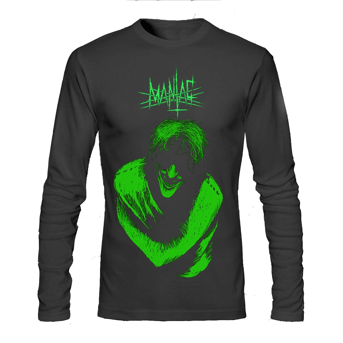 Maniac black full sleeve tee for Full sleeve t shirts online