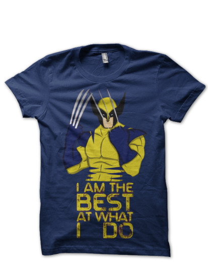 best of wolverine navy blue tee