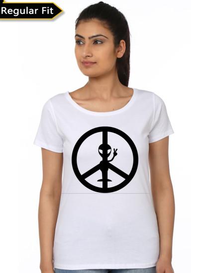 peace white top