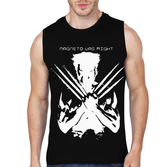 wolverine gym black vest