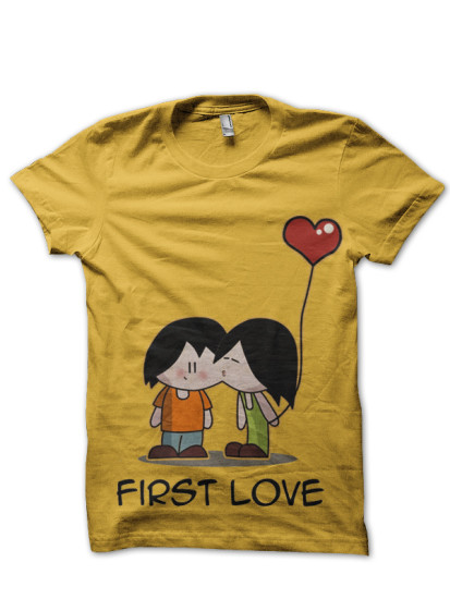 first love yellow tee