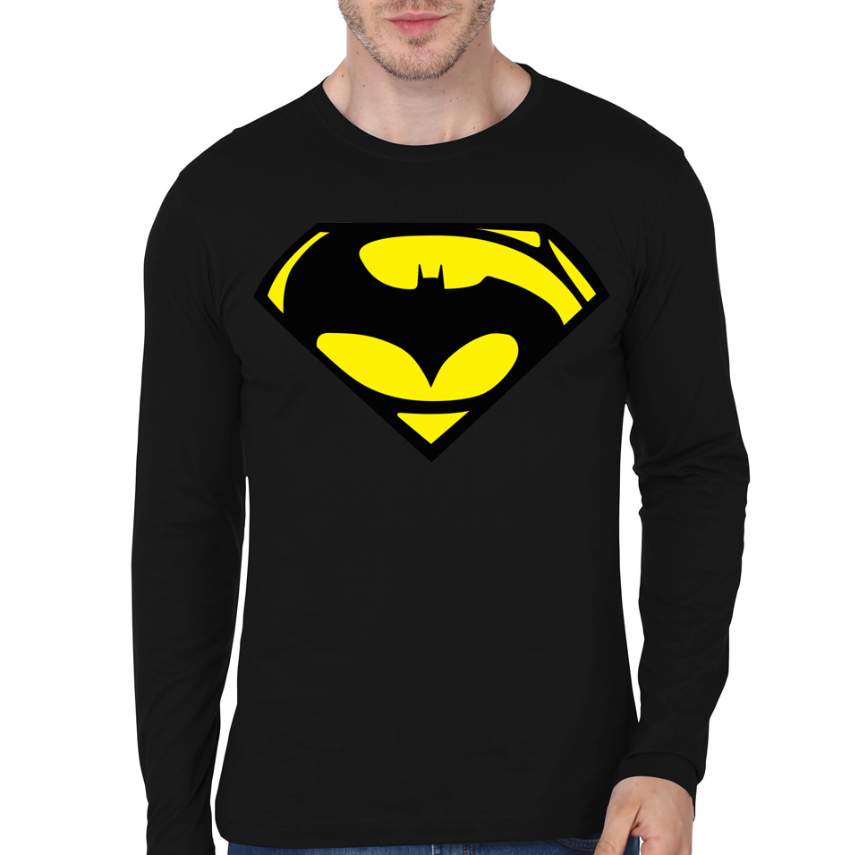 Black t shirt batman - Batman Vs Superman Black Full Sleeve Tee