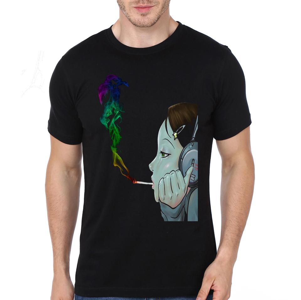 Animaux Loup 3D T-shirt à manches courtes rouge pour