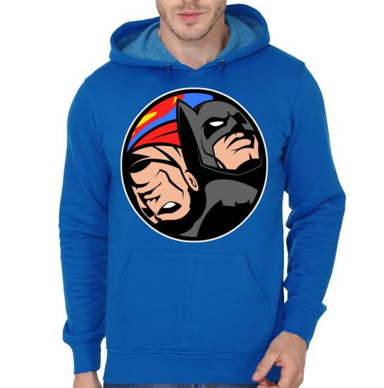 Batman Vs Superman Blue hoodie