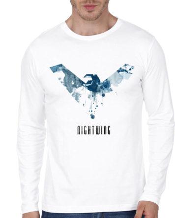 dfc43d9761d Fire Black Full Sleeve Tee Nightwing White Full Sleeve T-Shirt