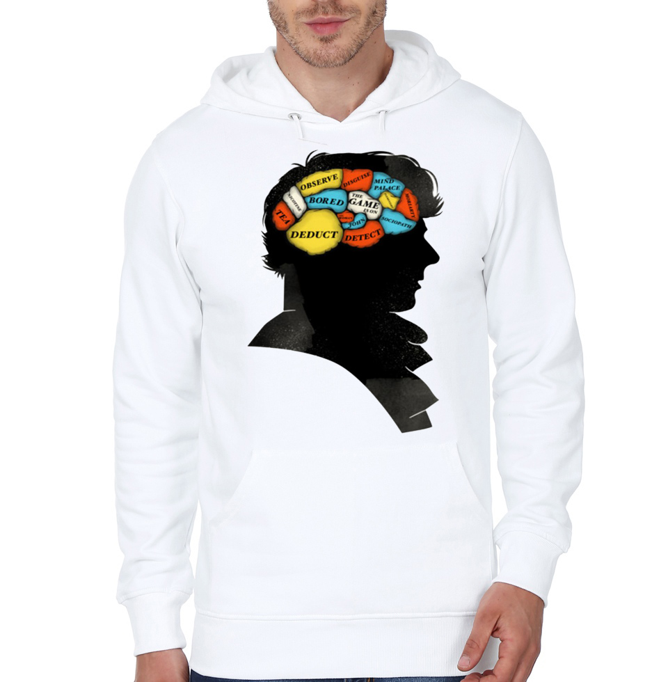 Bored sherlock white hoodie swag shirts for Bored now t shirt