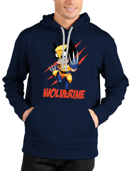 wolverine navy blue hoodie