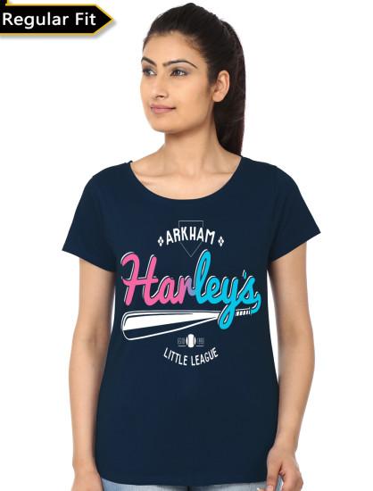 harley quinn navy blue girls tshirt