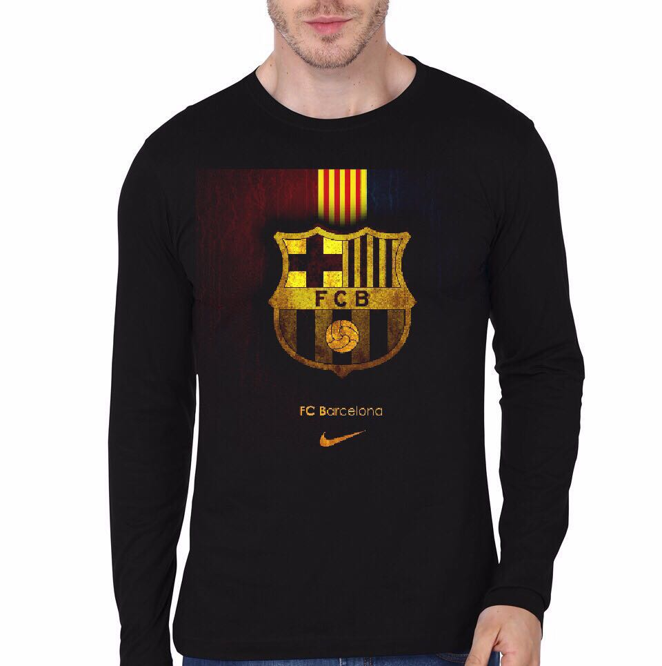 Fc barcelona black full sleeve t shirt swag shirts fc barca black full sleeve tee stopboris Choice Image
