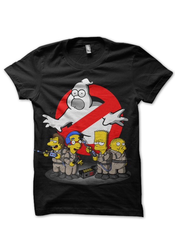 Home   Hollywood Movies T-shirts   Ghostbuster T shirts India   Homer  Ghostbusters Black T-Shirt 9a131570f1cd