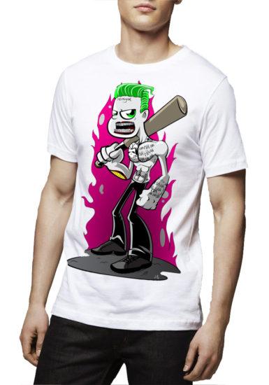 leto joker white t-shirt