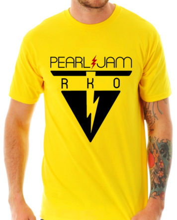 pearl jam yellow t-shirt