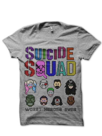 suicide squad 22 grey tee