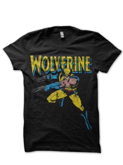 wolverine black tee