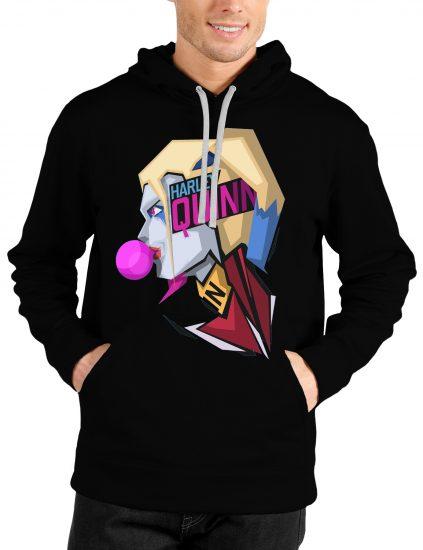 harley quinn black hoodie