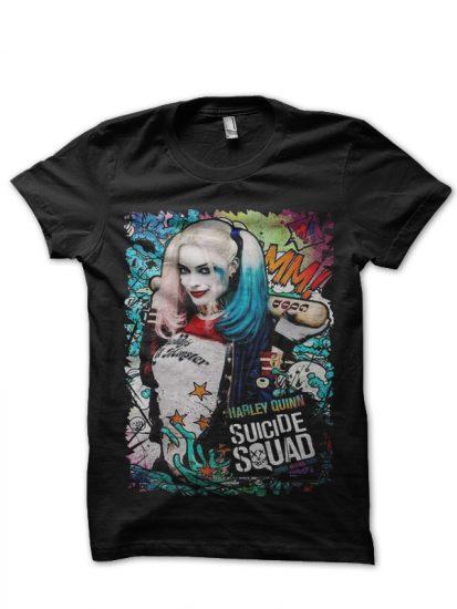 harley quinn black t-shirt