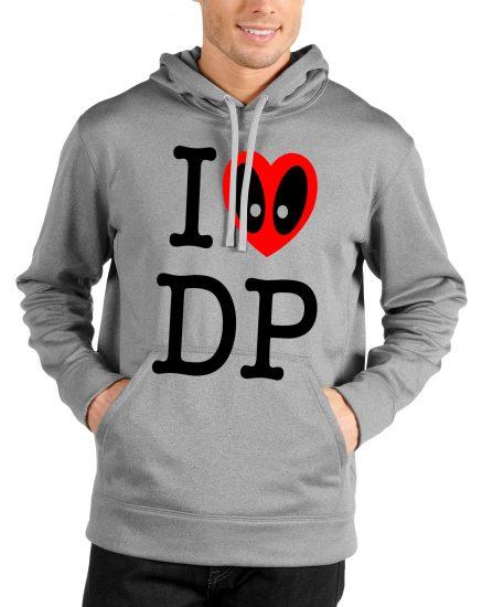 i love dead pool grey hoodie