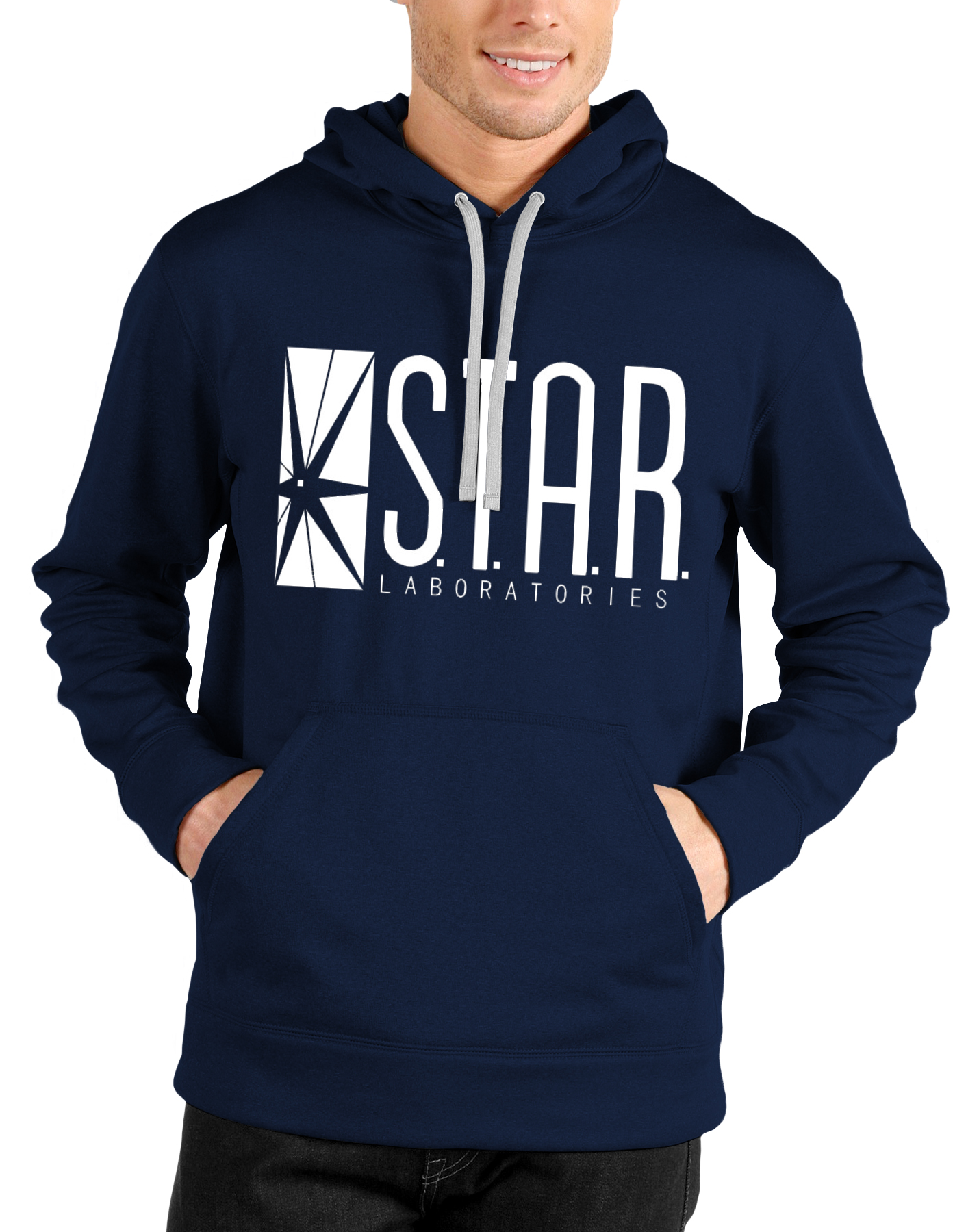 Star Laboratories Navy Blue Hoodie  265c793100a