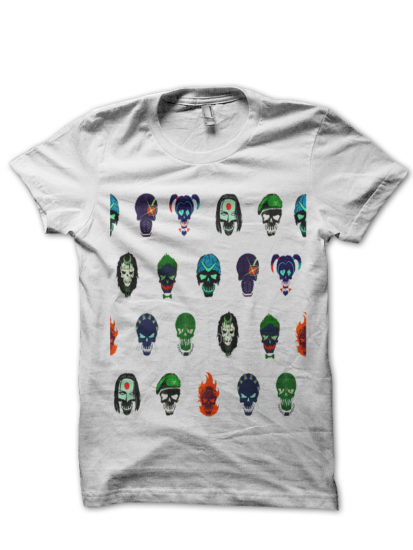 suicide squad 22 whie tee