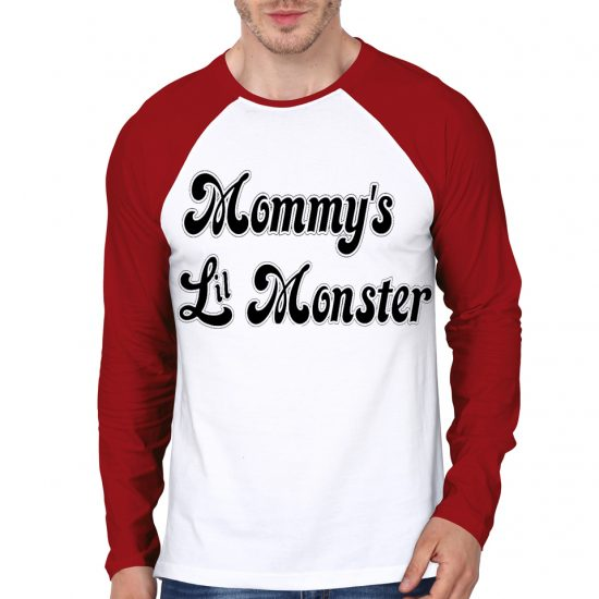 monster white and red tee