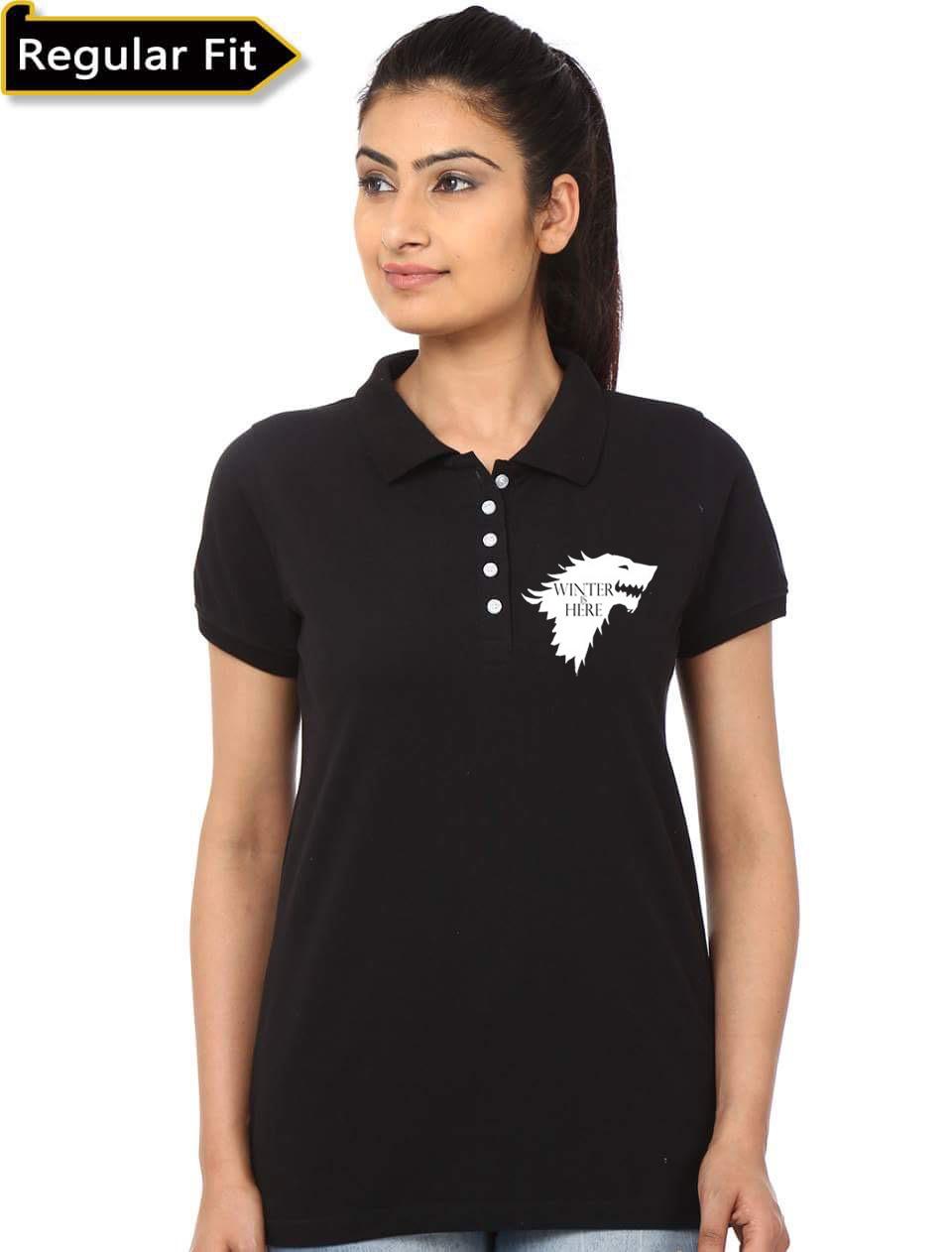 Home   Uncategorized   Winter Is Here Girls Polo T-Shirt ef6b86820