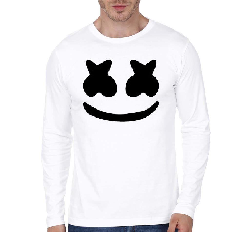 eebe530652 Marshmellow Face White Full Sleeve T-Shirt | Swag Shirts