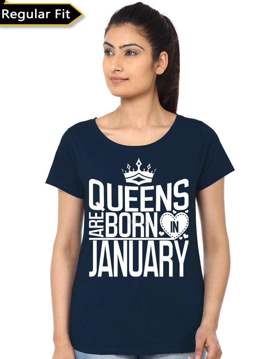 610c9f804 Queens Are Born In January Black Girl's T-Shirt | Swag Shirts