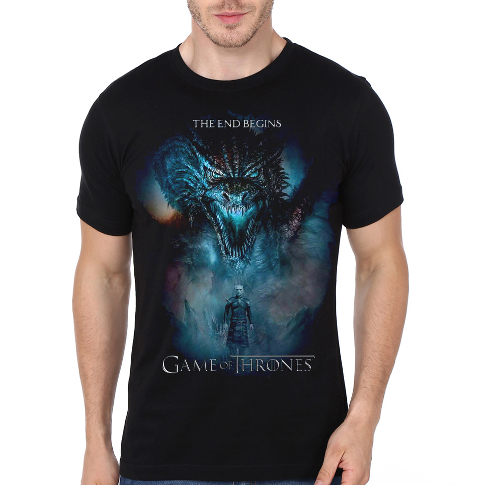 the end begins game of thrones black t shirt swag shirts. Black Bedroom Furniture Sets. Home Design Ideas