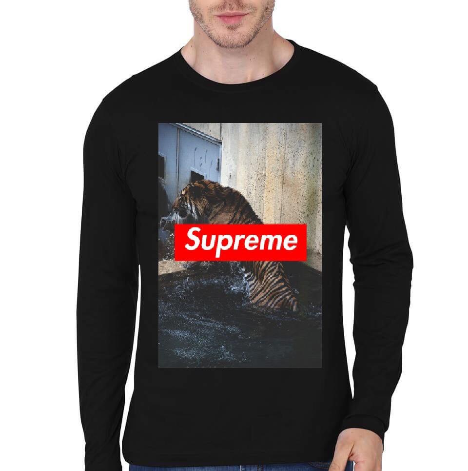 Supreme Black Full Sleeve T-Shirt - Swag Shirts