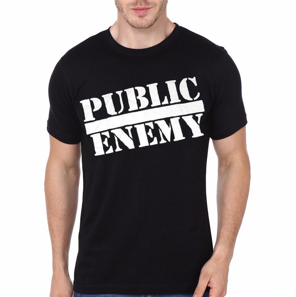 bd755def Public Enemy Black T-Shirt | Swag Shirts