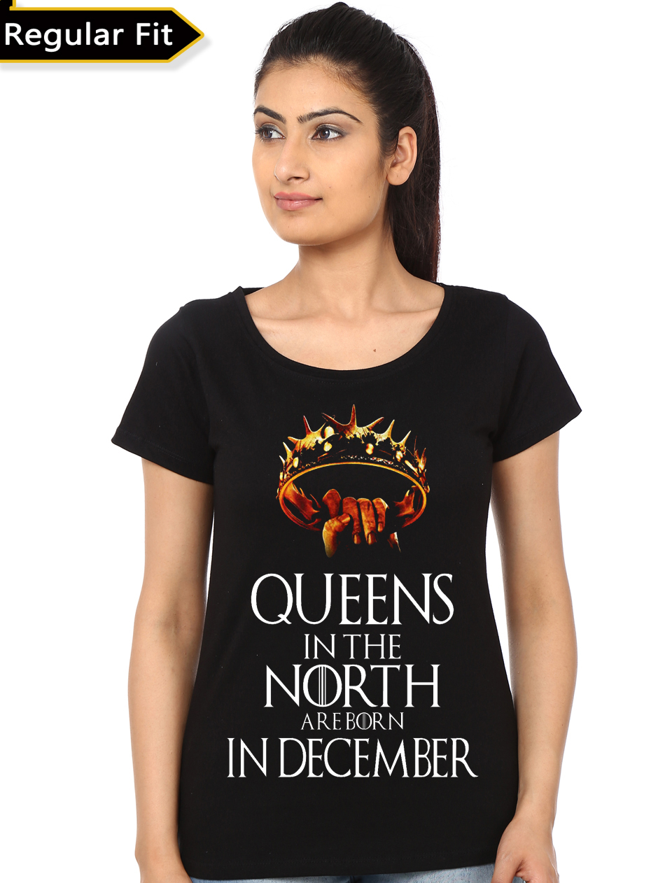 028b74d9d33 Home   Girl s Tees - Girl s Tees India   Queens Are Born In December T-Shirt