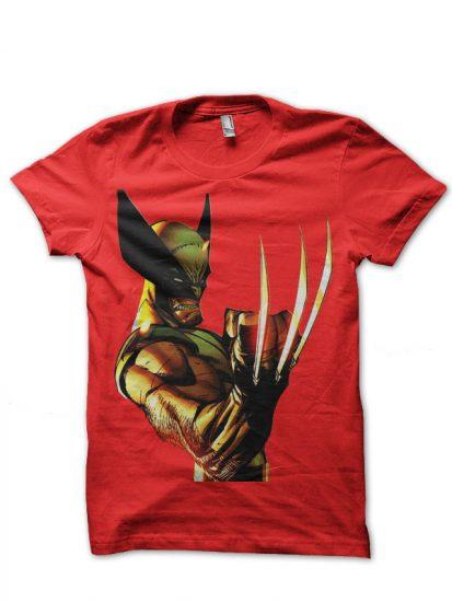 wolverine red tshirt