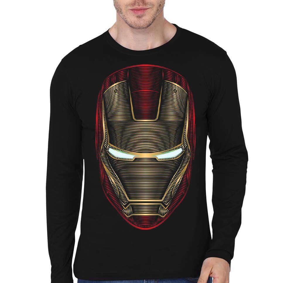 f1fc93ef Iron Man Black Full Sleeve T-Shirt | Swag Shirts