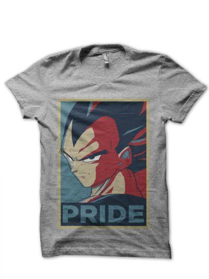pride vegeta grey t-shirt