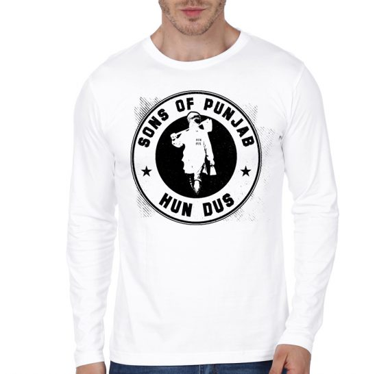 sons of punkab white full sleeve tee