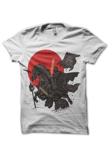 Samurai galaxy white tshirt