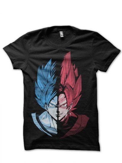 blue vs rose black tshirt