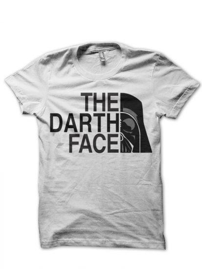 darth vader white tshirt