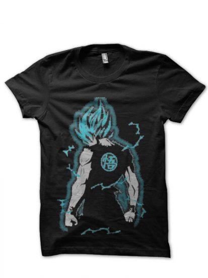 dragon z black tshirt