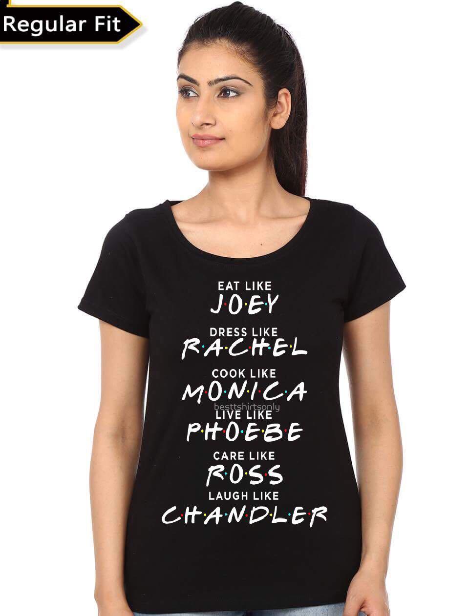 Black t shirt on girl - Friends Girl Black T Shirt