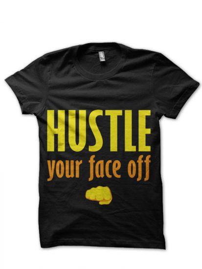 hustle black tshirt