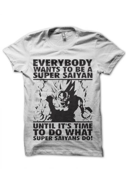 superr saiyan white tshirt
