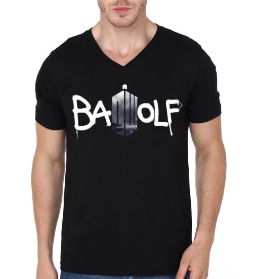 badwolf vneck black t-shirt