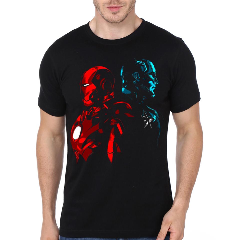 76fcb9c4 Iron vs Captain Black T-Shirt | Swag Shirts